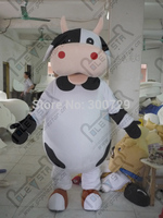 export high quality The lovely cow mascot costume/adult size white belly dog black spots cow mascot costume