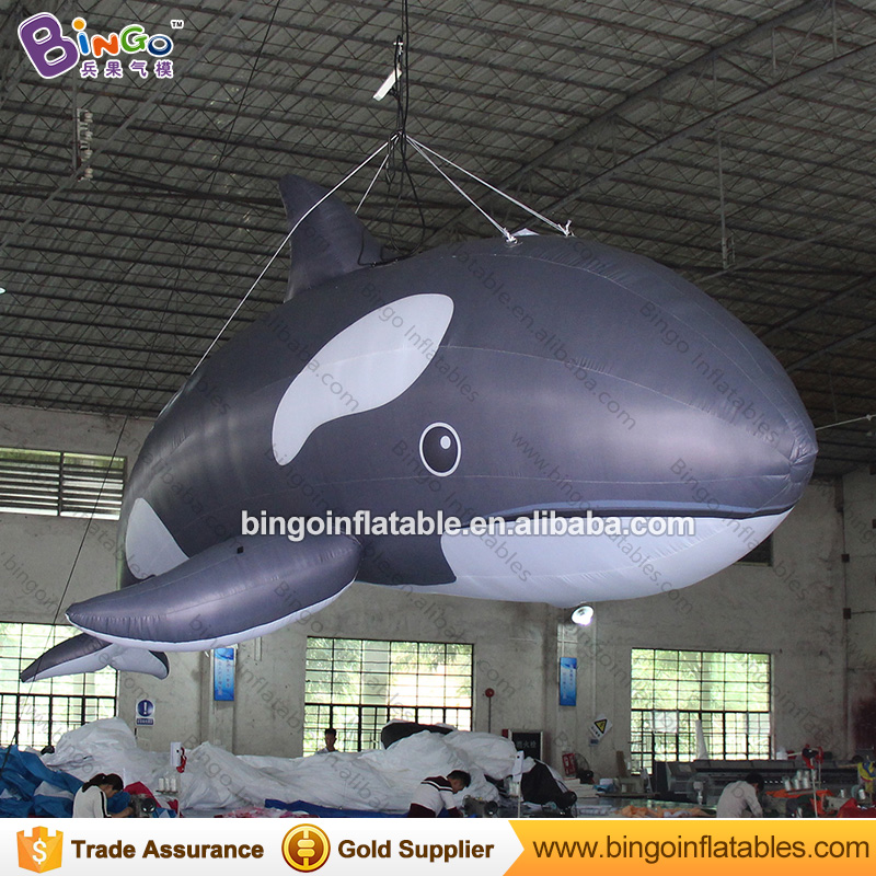 5m / 16ft summer inflatable killer whale replica inflatable fish inflatable amusement...