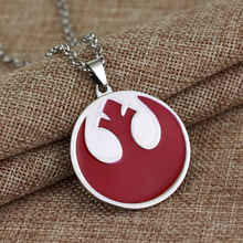 Movie Jewelry Star Wars The Fashion Rebel Alliance Coat of Arms Red Zinc Alloy Pendant Necklace 12pcs/lot