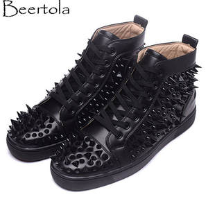 new product 024af 9e37a Beertola Black Casual Shoes Men Bottom Luxury Brand Design