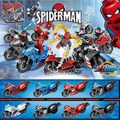 Movie Legoings Spiderman Into The Spider Verse Spider ham Pigs Miles Morales Green Goblin Wings Gwen Stacy Building Blocks Toys in Blocks from Toys Hobbies