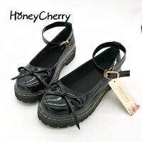 وأشارت الأحذية الأزياء تأثيري لوليتا styke honeycherry اليابانية دمية خادمة موحدة حجم الطلاب إمرأة لوليتا أحذية