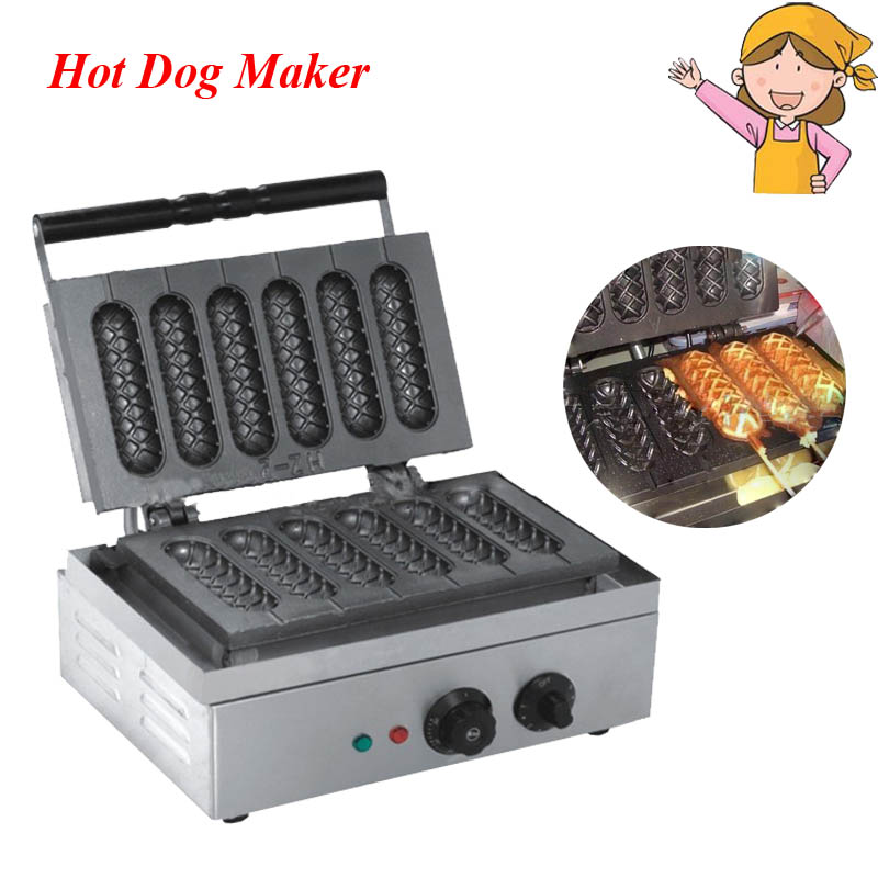 1pc Commercial French Hot Dog Making Machine Household Nonstick Cooking Surface Corn Shape Snack Makers EB-Q1