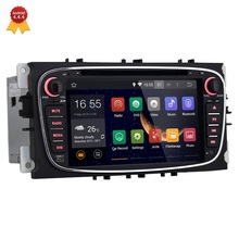Quad Core 2 Din Android 4.4 Car GPS DVD GPS Audio Stereo Head Unit for Ford Mondeo Focus S-Max 2009 2010 2011 with Ipod USB RDS