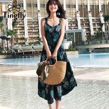 941cf0468a3 cechy daisy Tingfly Strap cross sexy summer women Tropical floral dress  vestidos