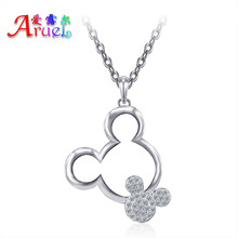fashion austrian rhinestone Girl Cute Women Wedding Child Crystal Jewelrys Mickey party popular Christmas gift Pendants Necklace