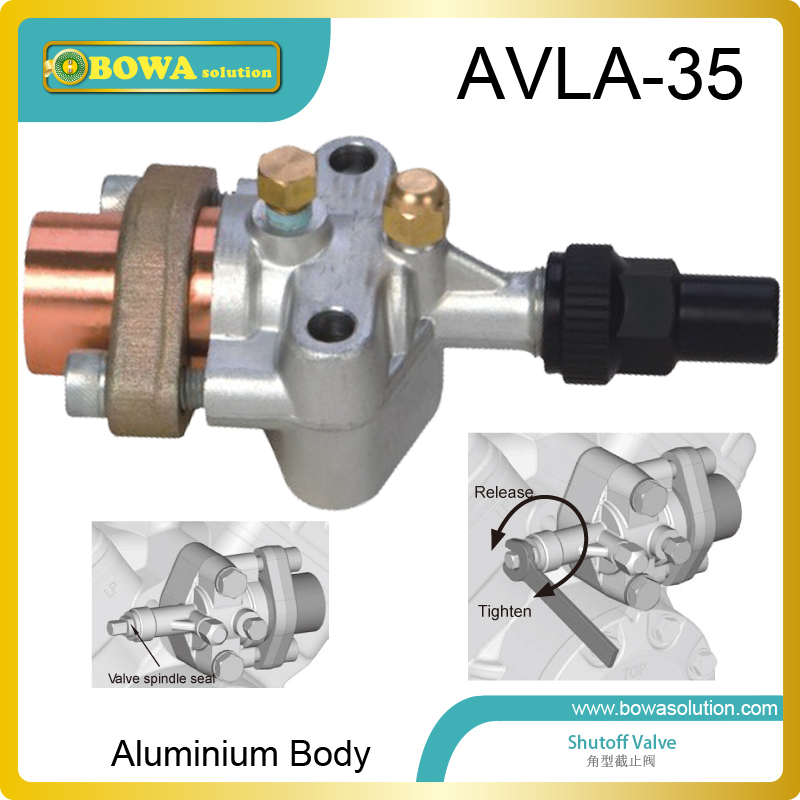 Aluminium shutoff valve with oval flange works as 4UFC.. 4NFC, F400Y and F600Y open type compressor discharge & suction valve, aluminium shutoff valve as suction valve of fk20 fk30 and fkx open type compressors for mobile refrigeration and air condtioner
