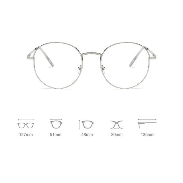 Ultralight Round Metal Frame Glasses 1