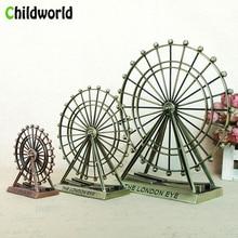 2019 Creative Home Decoration Accessories Alloy Ferris Wheel Ornaments Statue  Birthday Gift Crafts Model Figurines Decor