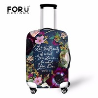 FORUDESIGNS New Fashion Protective Luggage Cover To 18 30 Suitcase Elastic Covers Dust Waterproof Travel Case