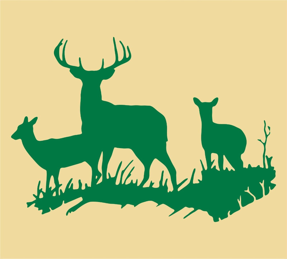 2016 Five Colors Available Adesivo De Parede Hunting Deer Wall ...