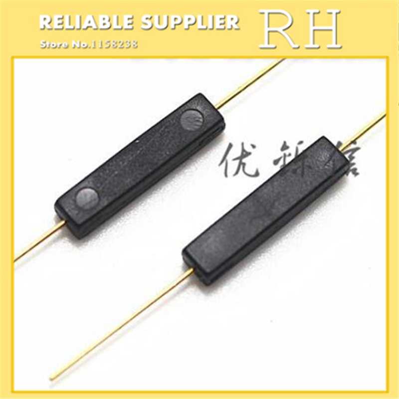 50pcs/lot Magnetic Switch Gps-14a Reed Switch Normally Open Plastic Type Anti-vibration Damage 2*14mm To Adopt Advanced Technology