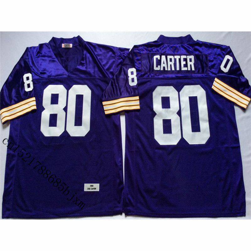 Mens 1975 Retro Cris Carter Stitched Name&Number Throwback Football Jersey Size M-3XL