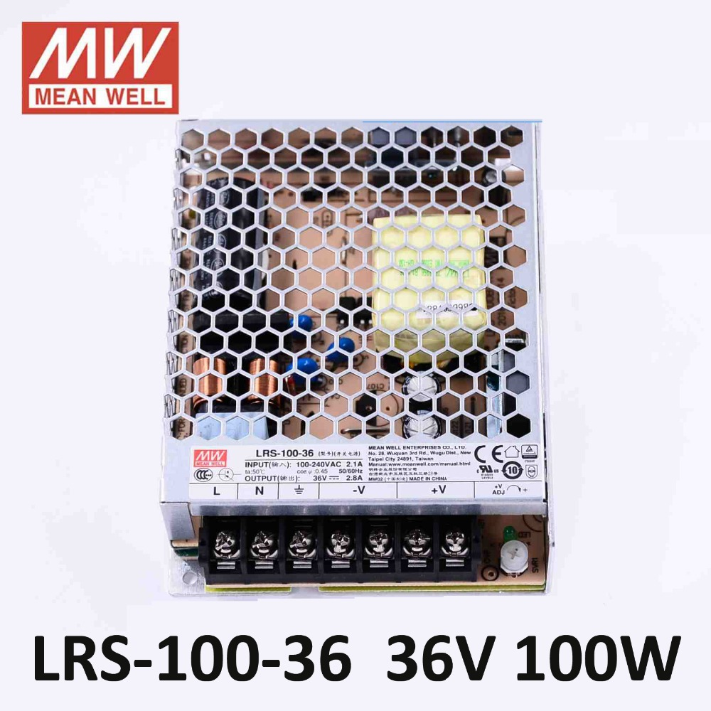 Conmutador//fuente alimentación 100w 36v 2,8a; Meanwell lrs-100-36; controlador transformador