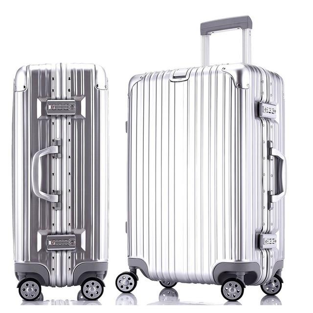 "sindermore 24"" 26"" Multicolor Medium PC Aluminum frame hardside rolling travel luggage suitcases baggage suitcase for girls"