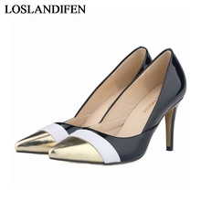 New Arrivals Spring And Autumn Fashion Elegant Sexy Women Pump 8 Cm High Heels Pointed Toe Pumps Shoes NLK-A0029