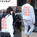 JACKETS Pablo Kanye Denim Jacket yeezy Denim Jackets The Life Of Pablo kanye Yeezy Oversized jeans Jacket SMC0281-5