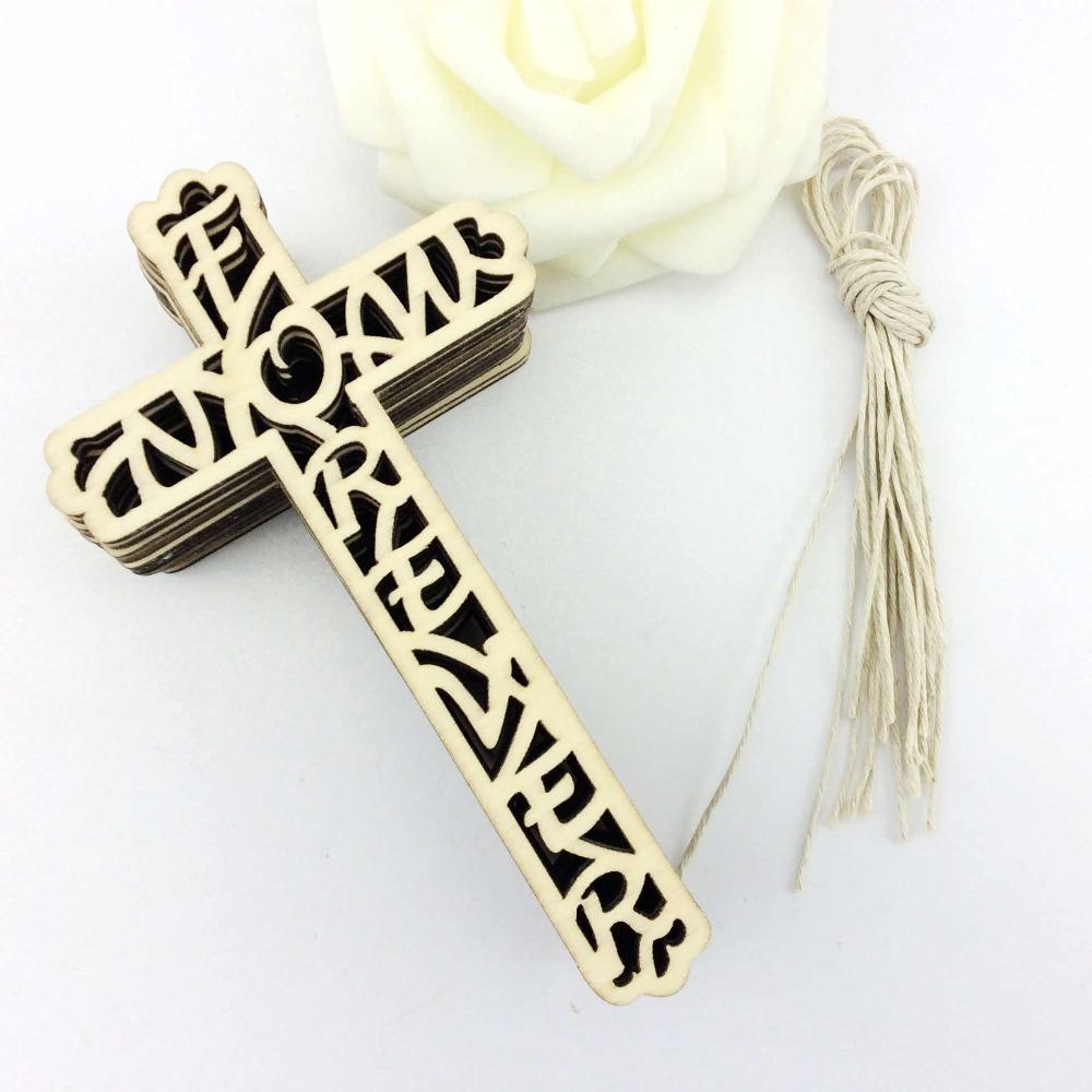 cruz de madera de madera de corte por lser de navidad ornamento decoracin para el envo