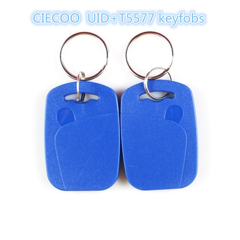 100 pcs/lot  Dual Chip Frequency RFID 125Khz 13.56mhz T5577 UID Writable Keyfobs Proximity Smart Card for Access Control 100pcs lot printable pvc blank white card no chip for epson canon inkjet printer suitbale portrait member pos system