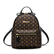 New Fahion Women PU Leather Backpack For Teenagers Girls Leisure Backpacks Female Ladies Casual Womens