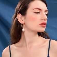 Joolim High End Elegant Pearl Heart Drop Earring Dangle For Work Women Fashion Jewelry Wholesale