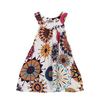 New Toddler Kids Flower Girls Dress Tropical style Kids Dress children clothes Breathable cool Dresses girls dress wedding 15 Платье