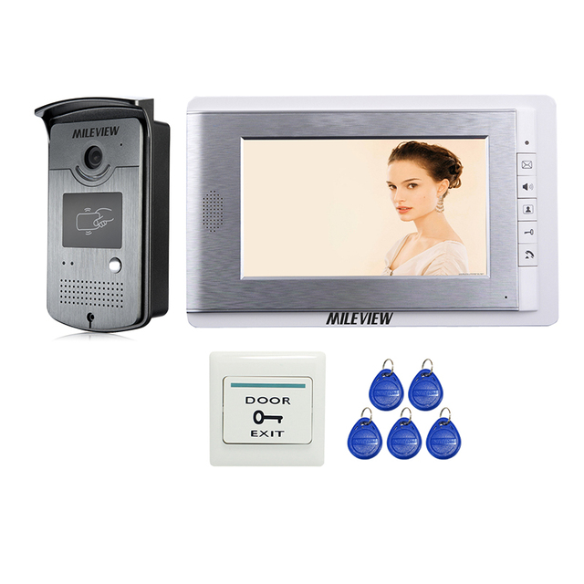 Wholesale New 7 Inch Color Video Door Phone Intercom Entry System