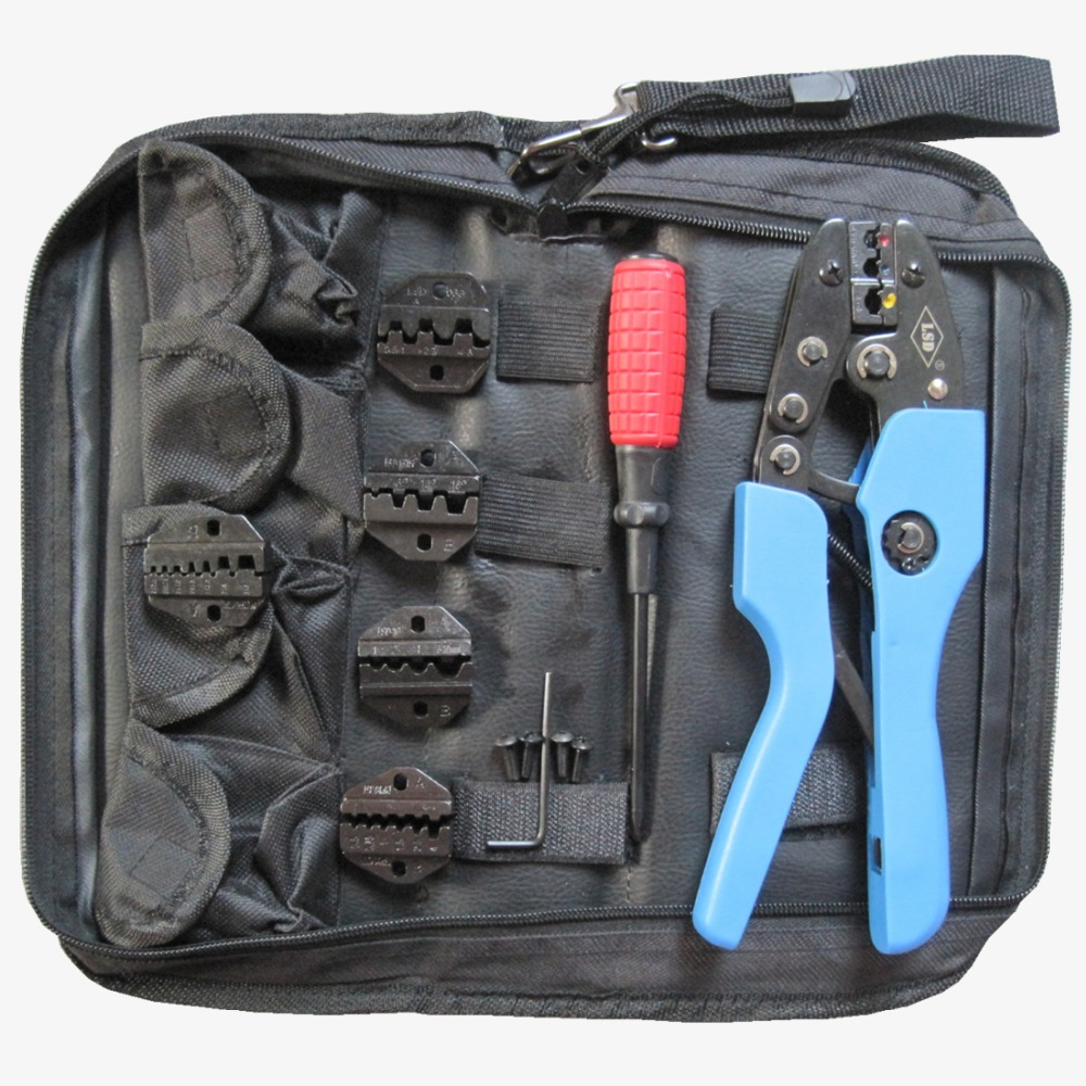 Candid 7 In 1 Hand Crimping Tool Kits Terminal Crimping Pliers With Screwdriver 5pcs Crimping Jaw Dies Set An-k30j-4 Latest Fashion