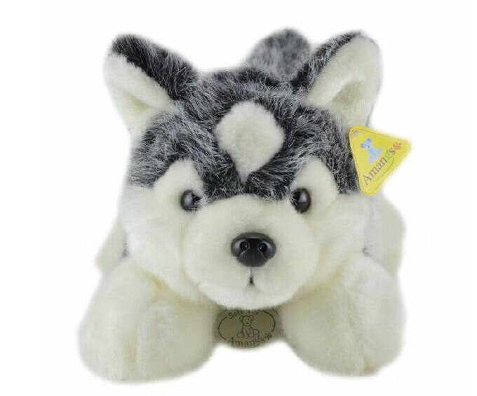 middle lovely Husky dogs high quality husky lying dog toys gray cute dog toy birthday gift about 60cm tiny the birthday dog