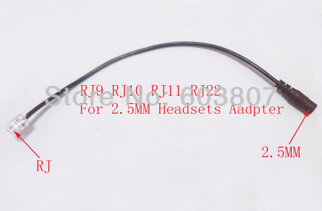 2.5MM To Rj Adapter Compatible Phones for PC Headset to CICO IP Phone Adapter: