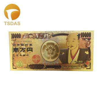 Japonia 10000 jen 24Kt złoty banknot fantazyjne kolekcjonerskie japonia banknoty dla wartości prezenty tanie i dobre opinie TSDAS Ludzi Z tworzywa sztucznego Japan style