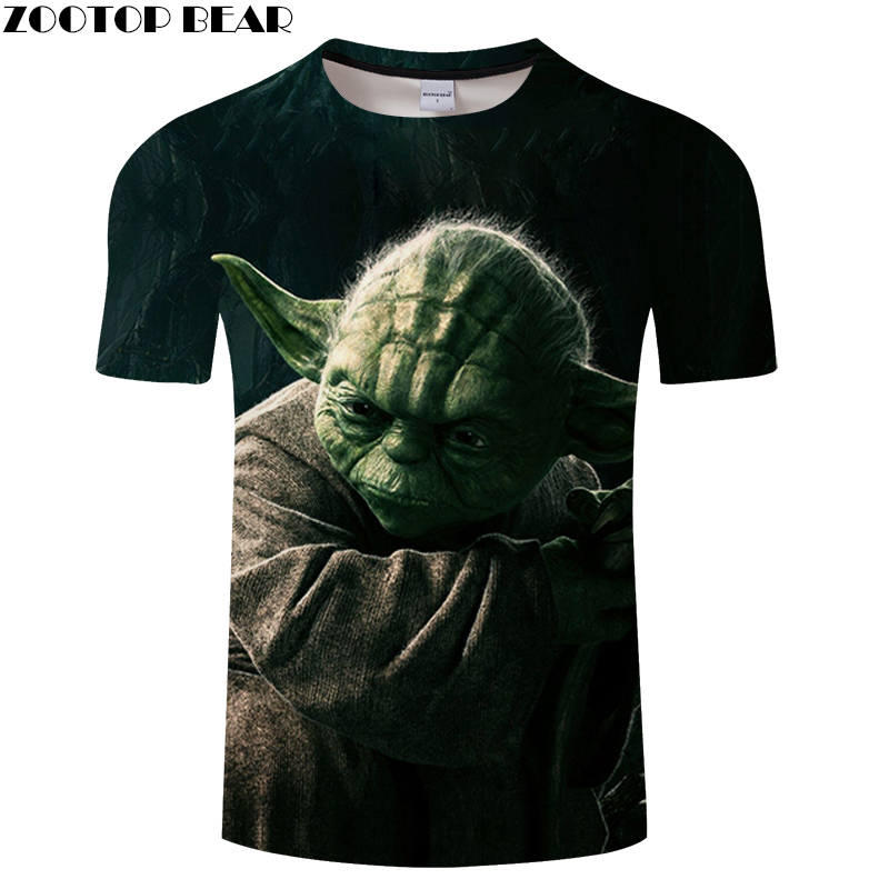 T-shirt Men Summer Tops 3D Print Short Male Quick Dry Fitness Breathable Tees Casual Funny Shirts Star Wars Hot Sell ZOOTOPBEAR