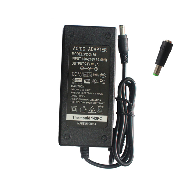 US $14 24 5% OFF SEEBZ 24V 3A AC/ DC Adapter Power Supply for Zebra ZP550  ZP450 GX420d GK420d GK420t GX420t GX430T GT810 GC420 Printer Adapter-in