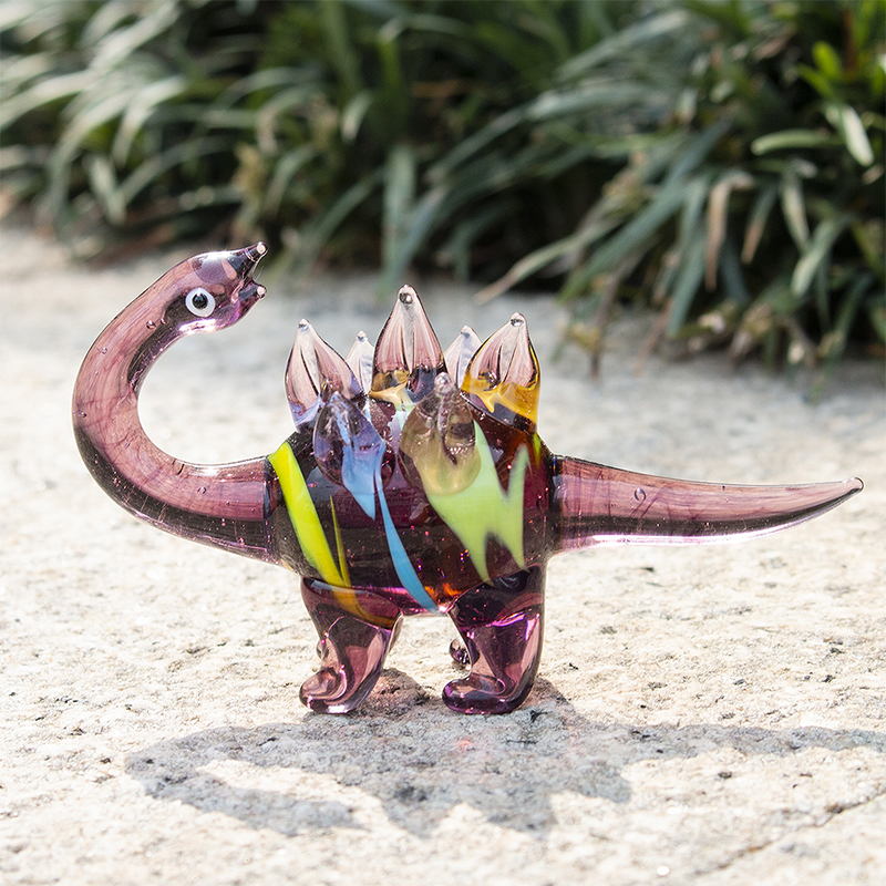H D 10 Styles Hand Blown Art Glass Cute Miniature Animals Figurines Collection Dollhouse Gifts Home Desktop Decoration in Figurines Miniatures from Home Garden