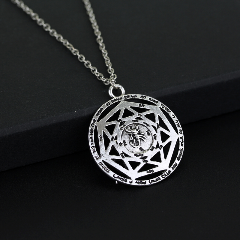 Supernatural necklace heptagram scorpion key of solomon pentacle supernatural necklace heptagram scorpion key of solomon pentacle seal pagan wiccan jewelry supernatural amulet pendant necklace in pendant necklaces from aloadofball Gallery