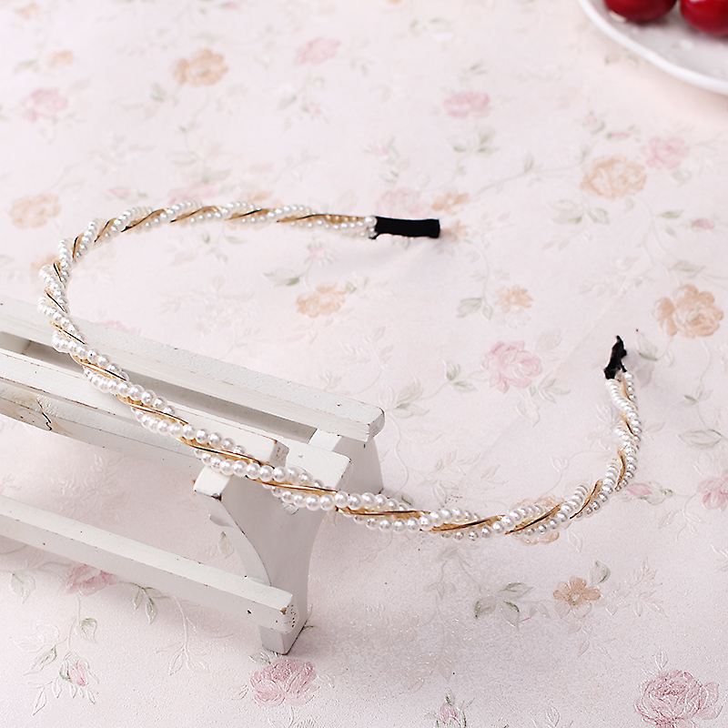 M MISM Fashion Pearl Metal Alloy Hair Bands hair Hoop Elegant Lovely Headband Headwear for Women girls hair Accessories Bow m75 750kgs pulley 304 stainless steel roller crown block lifting pulley factory direct sales all kinds of driving pulley