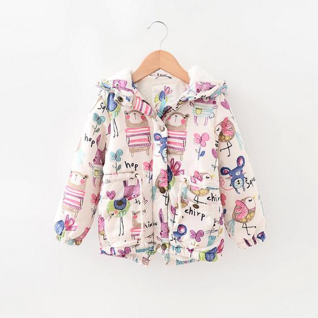 Casacos de inverno meninas graffiti manga comprida next casacos meninas quente crianças grossos casacos com capuz crianças meninas blusão de roupas