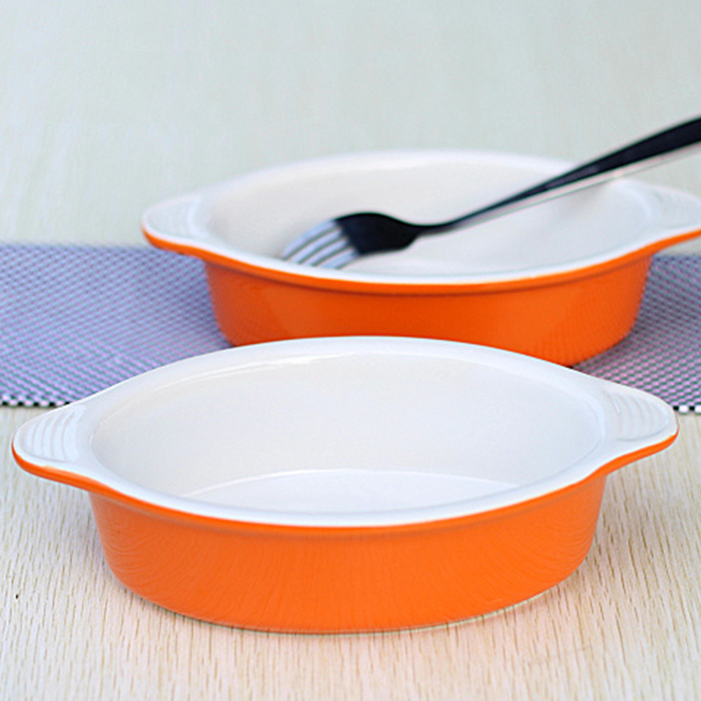 Ceramic Baking Dishes Bake Bowl Interaural Dish Plate Western Soup Bowl Baked Rice Bowl Plate Oven Pudding Desserts Plate on Aliexpress.com | Alibaba Group & Ceramic Baking Dishes Bake Bowl Interaural Dish Plate Western Soup ...