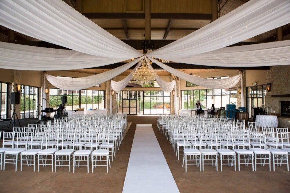 10 pcslot de mariage plafond draper canopy draperie 12 m x 14 m blanc de - Drap Mariage Plafond
