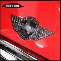 New Carbon Fiber Sticker Outside Decoration Emblem Front Badge For MINI COOPER F55 F56 F54 Car