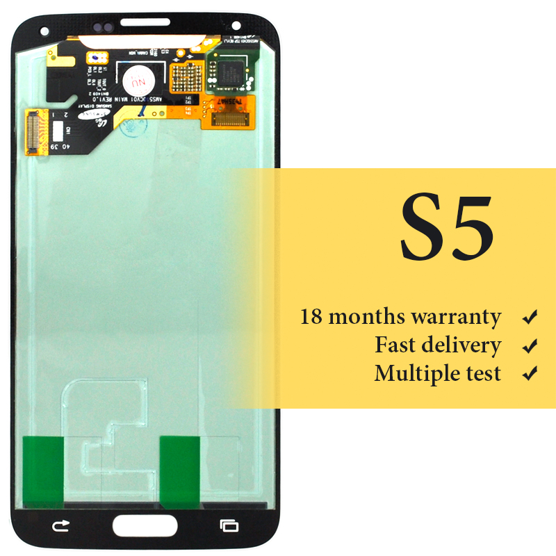 100% teset For S5 lcd display OEM good quality for mobile phone G900F screen replacement digitizer lcd screen assambly