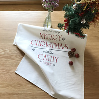 Europe And The United States Christmas Placemat Cotton Napkin Sale High Grade Tea Trade