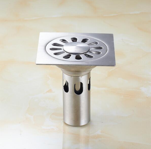 10x10cm Stainless steel floor drain bathroom kitchen ...