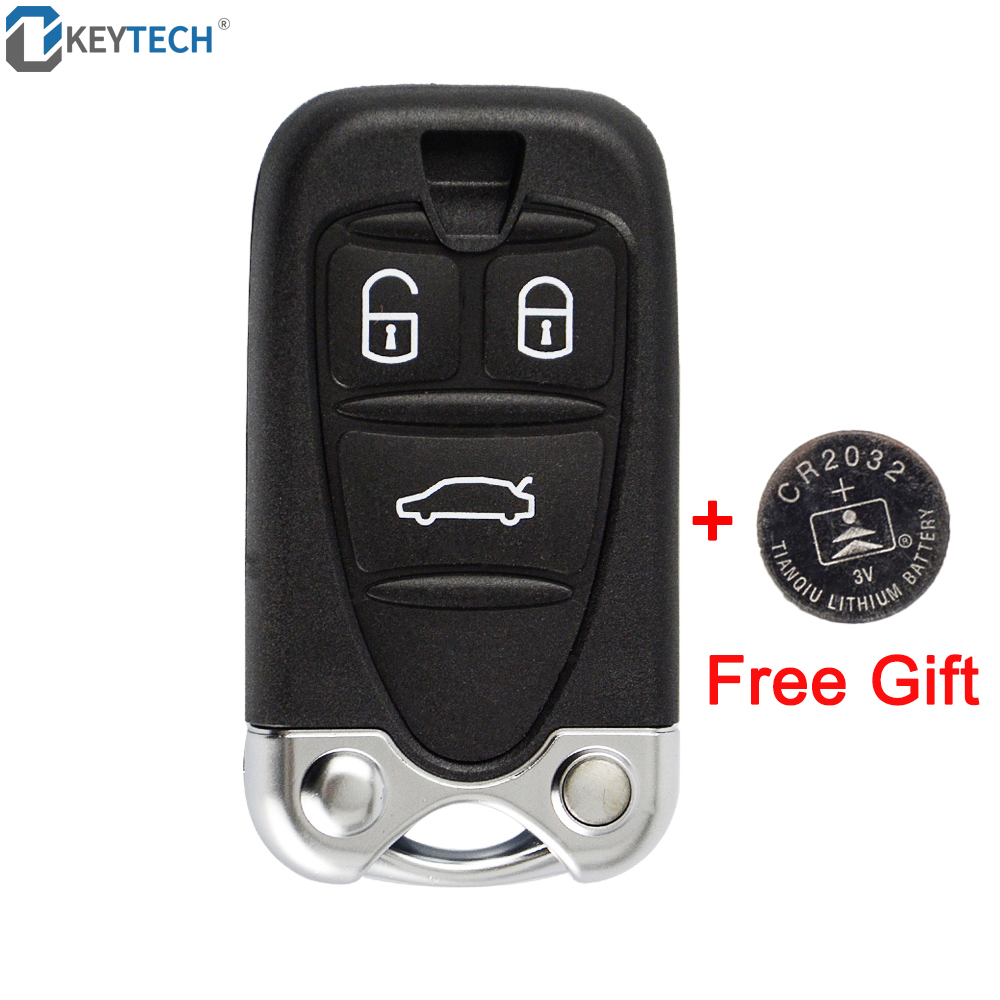 OkeyTech for <font><b>ALFA</b></font> <font><b>ROMEO</b></font> 159 Brera <font><b>156</b></font> Spider 3 Buttons Replacement <font><b>Remote</b></font> Control Housing Car <font><b>Key</b></font> Shell With CR2032 Battery image