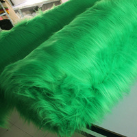 Groene Effen Shaggy Faux Fur Stof (lange Stapel bont) kostuums Cosplay 36