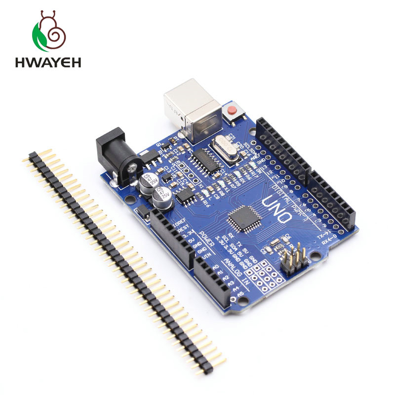 high quality One set HWAYEH UNO R3 CH340G+MEGA328P Chip 16Mhz for arduino UNO R3 Development board (NO USB CABLE) 1set atmega328p ch340g uno r3 development board