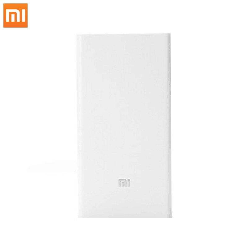 imágenes para Banco de la Energía Xiaomi 20000 mAh PowerBank Portátil USB Cargador de Batería Externa Para los teléfonos Móviles Duales Puertos USB de Carga Rápida