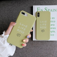 Cute Creative Cases For iPhone 6 6s 7 8 Plus Hard PC Quotes Summer Matcha Green Love Life Rose Phone Case X XR XS MAX