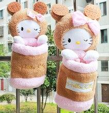 Плюшевые игрушки 1 шт. 45 см 55 см мультфильм cookie hello kitty высокое качество цилиндра получать сумка висит сумка для хранения творческий подарок на день рождения