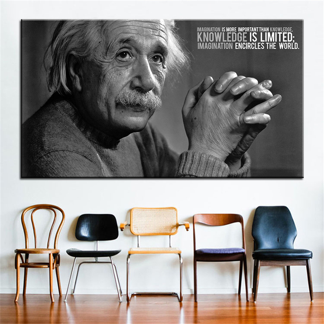 Large size Printing Oil Painting albert einstein Wall painting Decor ...